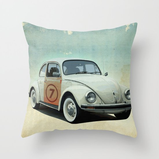 Number 7 - VW beetle Throw Pillow