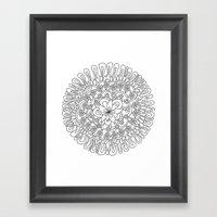 Simple Flower Framed Art Print