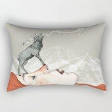 Deer Lady! Rectangular Pillow