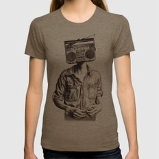 Radio-Head Womens Fitted Tee Tri-Coffee SMALL