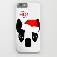 Santa Boston Terrier iPhone 6 Slim Case