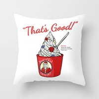 The Frogurt Is Also Cursed Throw Pillow