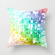 spectrum construct Throw Pillow