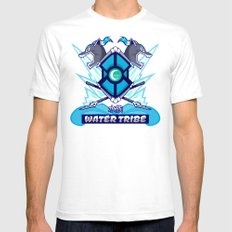 Avatar Nations Series - Water Tribe SMALL White Mens Fitted Tee