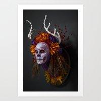 Autumn Muertita Side Art Print