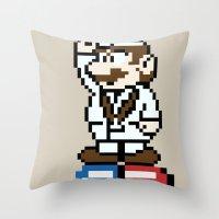 Dr.Mario Throw Pillow