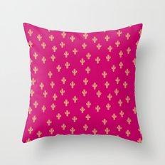Catctus Strawberry Throw Pillow
