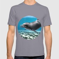 Dolphin Mens Fitted Tee Slate SMALL