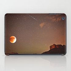 Sedona Blood Moon Eclipse with Shooting Star iPad Case