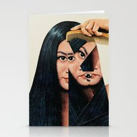 woman Stationery Cards featuring Normalization by Eugenia Loli
