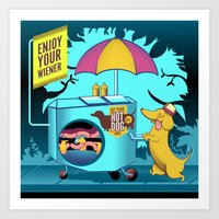 enjoy your wiener Art Print