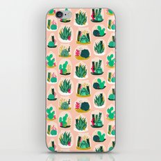 Terrariums - Cute little planters for succulents in repeat pattern by Andrea Lauren iPhone & iPod Skin