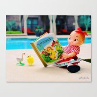 Day at the pool Canvas Print