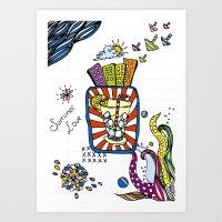 Summer Doodle Art Print