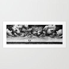 Fingerprint - Rainfall Art Print
