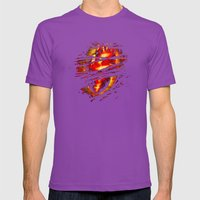 Heart Of Fire Mens Fitted Tee Ultraviolet SMALL