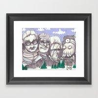 Mount Rickmore Framed Art Print