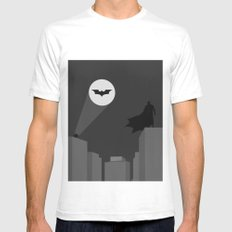 The Bat Mens Fitted Tee White SMALL