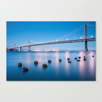 The Bay Bridge, San Fran… Canvas Print