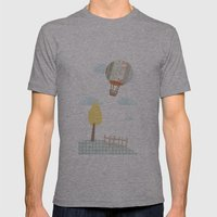 Baloon Collage Mens Fitted Tee Athletic Grey SMALL