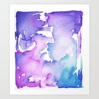 blue wash Art Print