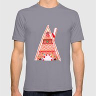Watercolour Christmas Gi… Mens Fitted Tee Slate 2X-LARGE