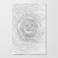 fell in love with the sun Canvas Print