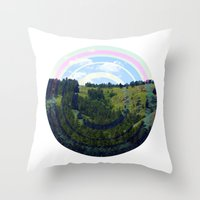 Busy Landing Throw Pillow