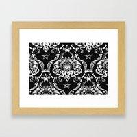 Cthulhu Damask Framed Art Print
