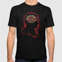 Crowley's Phrenology Mens Fitted Tee Tri-Black SMALL