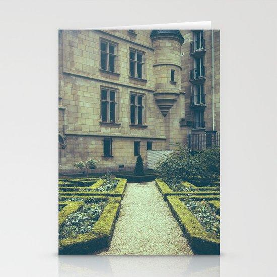 French Garden Maze Stationery Card