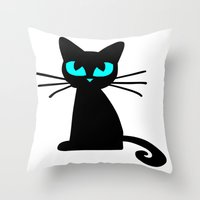 I Hate Mondays  Throw Pillow