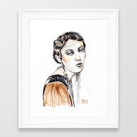 Fashion Illustration Wit… Framed Art Print