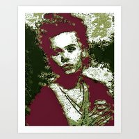 JOHNNY DEPP BY Cd KIRVEN Art Print
