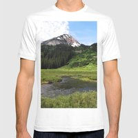 Crested Butte Mens Fitted Tee White SMALL