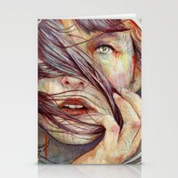 portrait Stationery Cards featuring Opal by Michael Shapcott