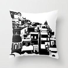 Fira Black and White Throw Pillow