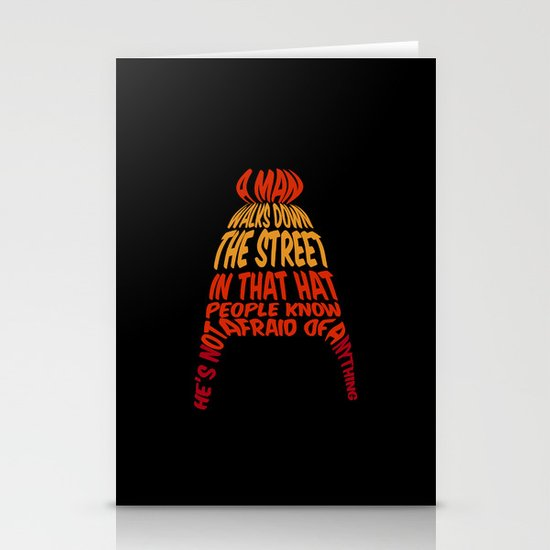 A man walks down the street... Stationery Card