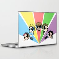 Laptop & iPad Skin featuring Powerpuff!Direction by Cyrilliart
