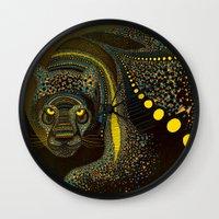 Dark Jaguar Wall Clock