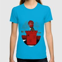 The Rook Womens Fitted Tee Teal SMALL
