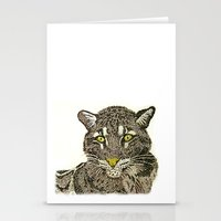 Clouded Leopard Stationery Cards