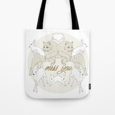 Miss You (Kitsch Symmetry series)  Tote Bag