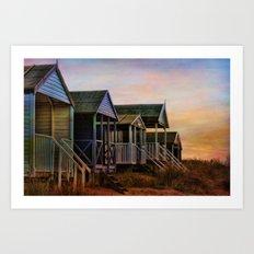 Beach Huts. Art Print