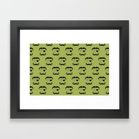 Olde Timey Mustache And … Framed Art Print