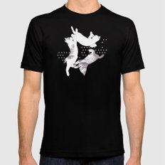 cat triangle  Mens Fitted Tee Black SMALL
