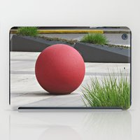 Round and Red iPad Case