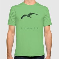 Blue Series #001 ~ Summer Mens Fitted Tee Grass SMALL