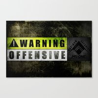 Lockout: Warning Offensive (MS-ONE) Canvas Print