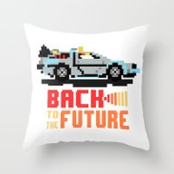 Back To The Future: Delo… Throw Pillow
